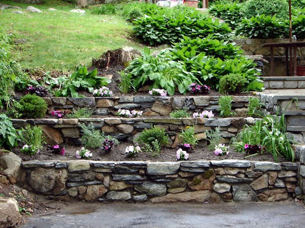 How To Build Tiered Garden Walls Gardens Tiered Landscape And