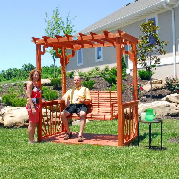 Cedar Pergola Swing - Sam' Club Bestie And