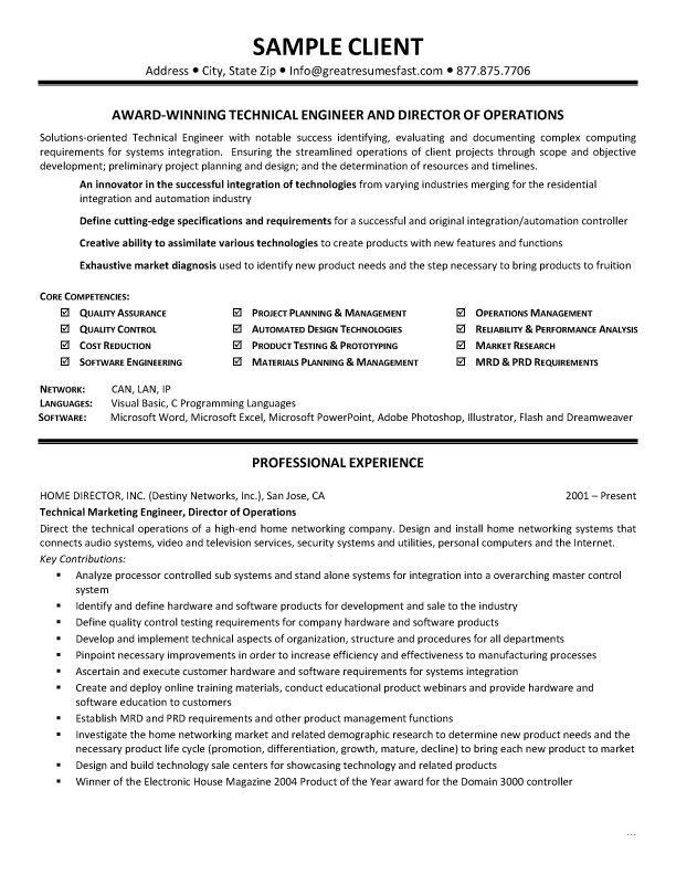 Hardware Skills For Resume