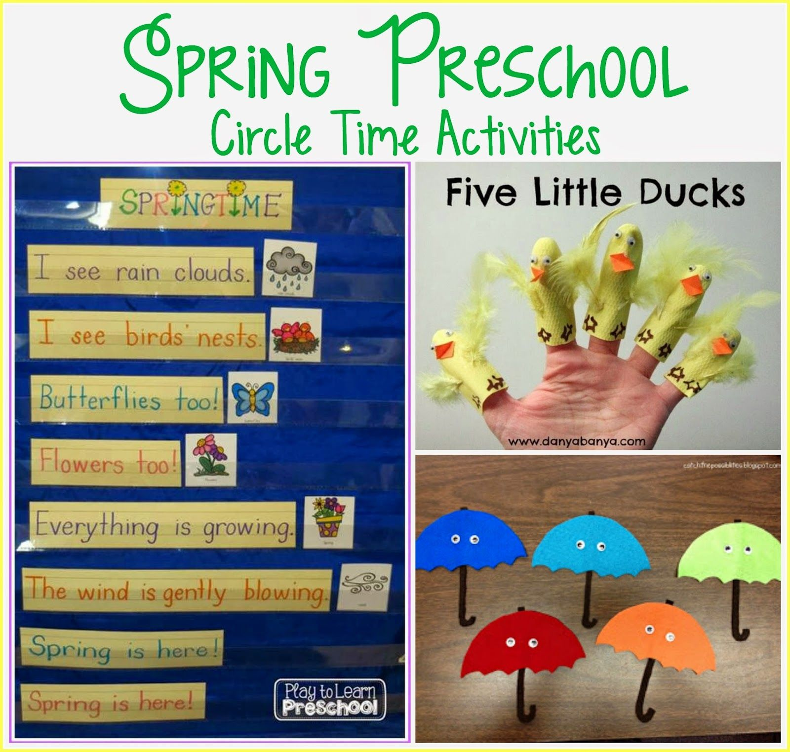 Play To Learn Preschool Spring Circle Time Activities