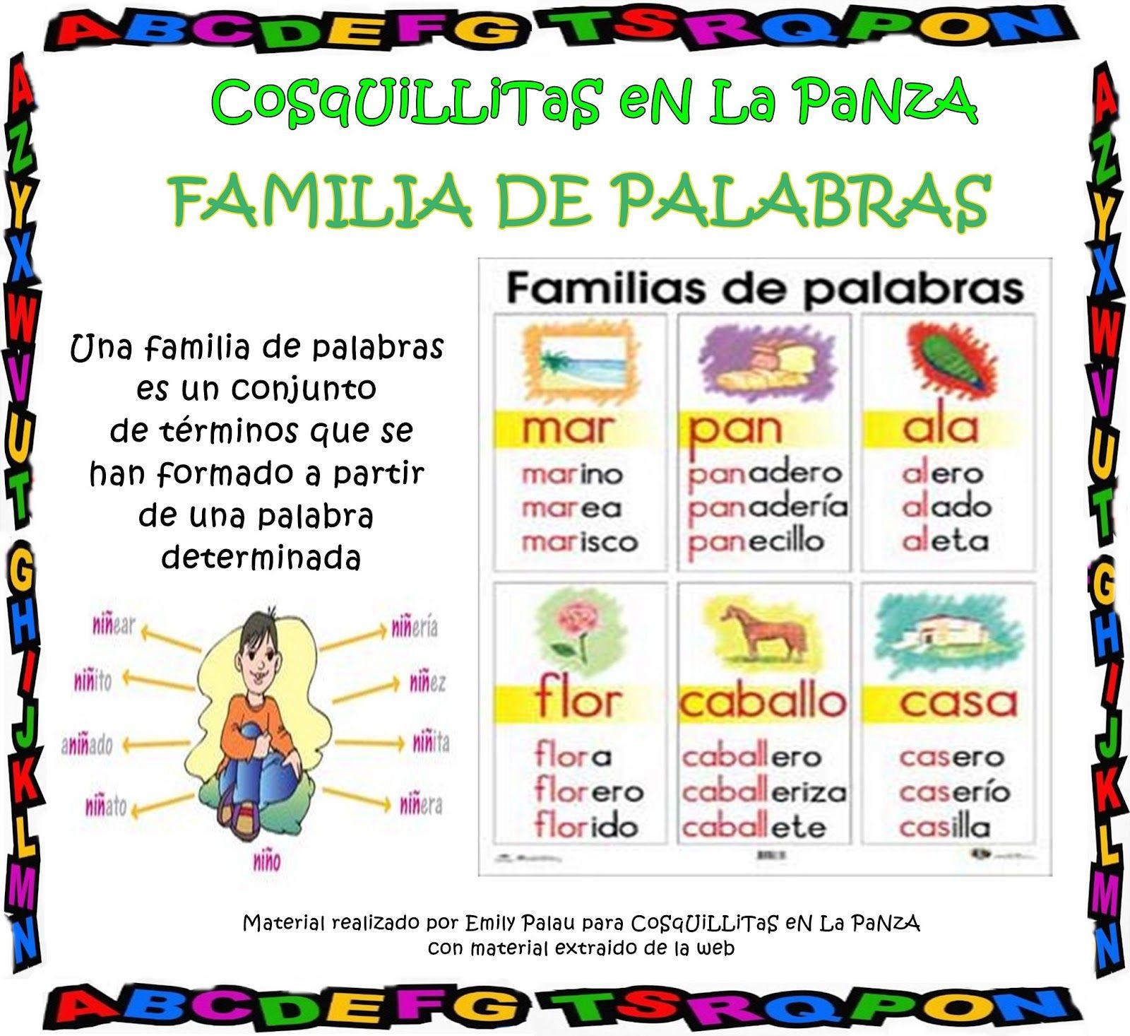 Familia De Palabras  Escuela Lengua  Pinterest