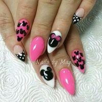 Pink disney inspired nails | Beautiful Nails! | Pinterest ...