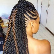 african american braided updo
