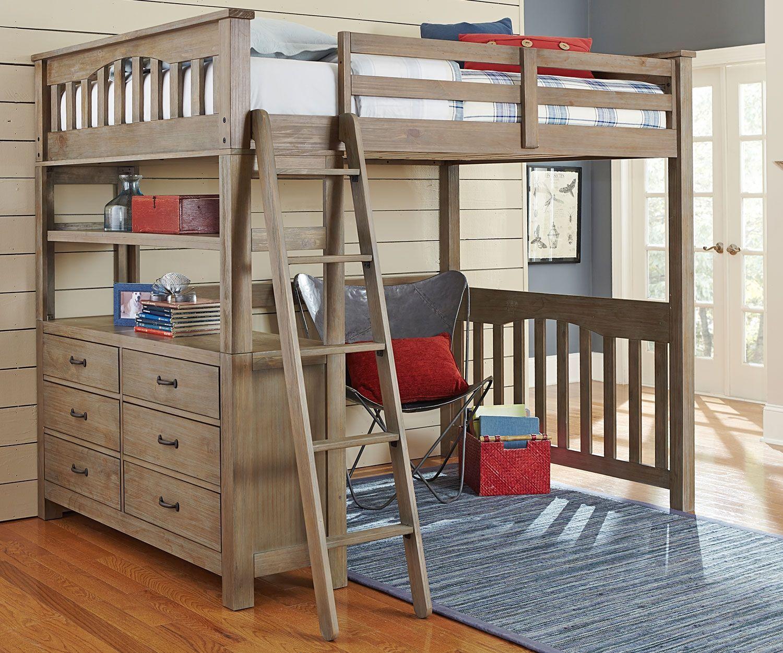 Top Full Size Loft Bed With Desk  loft bed  Pinterest