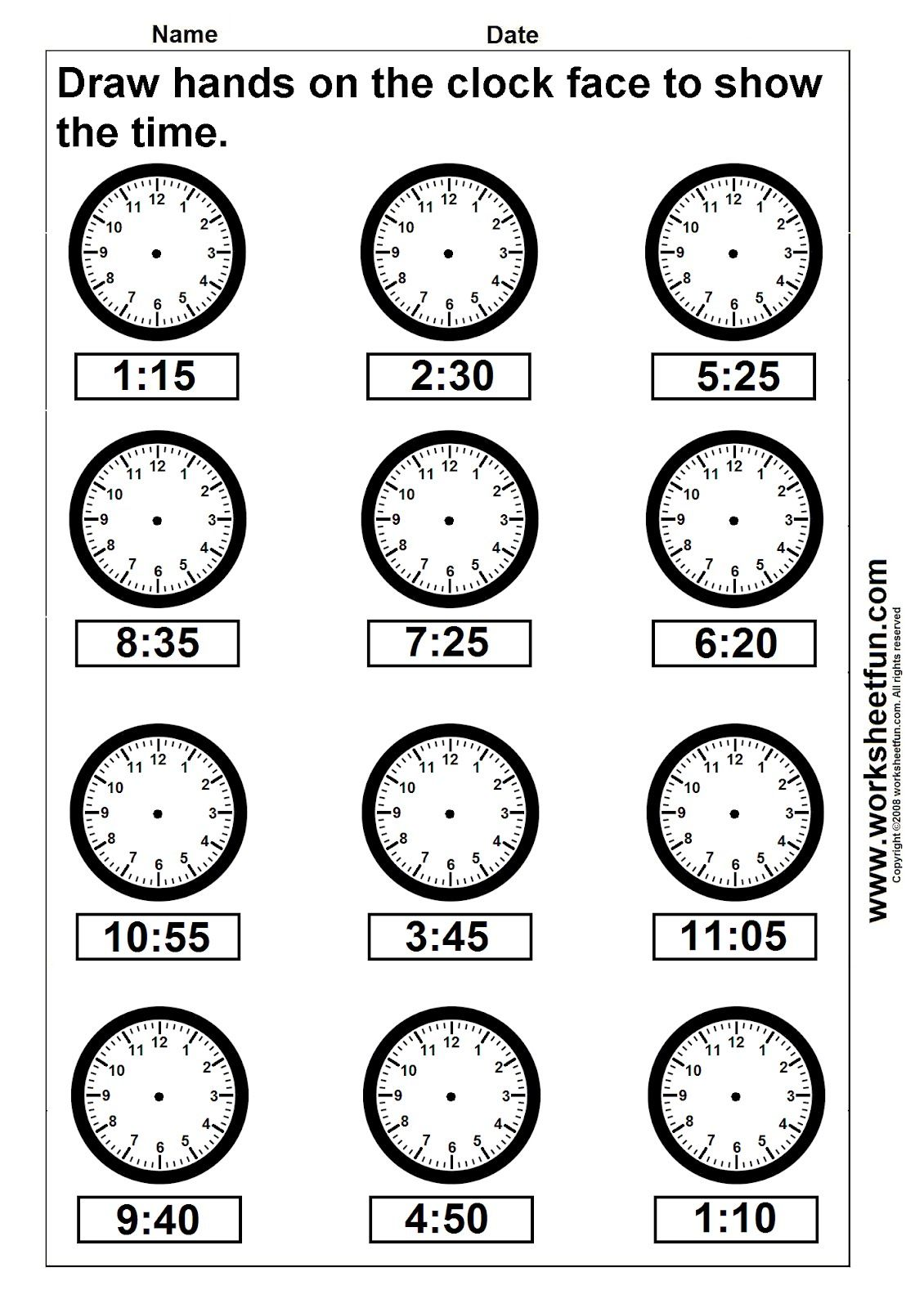Clocks With Second Hands For 4th Grade Math Time