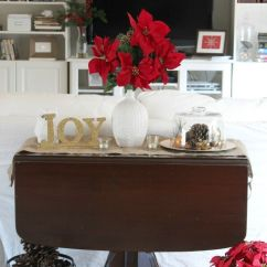 Christmas Decorating Ideas For Sofa Table Camel Colored Leather Chesterfield Natural Vignette Pinterest