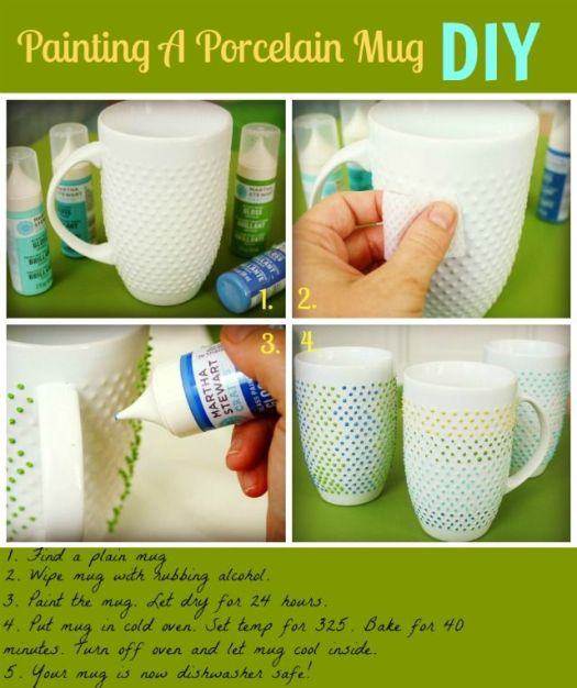 Finally A Tutorial On How To Paint Mugs With Dishwasher Safe Mine Have