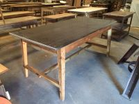 KItchen Island with stainless steel top. Base made from ...