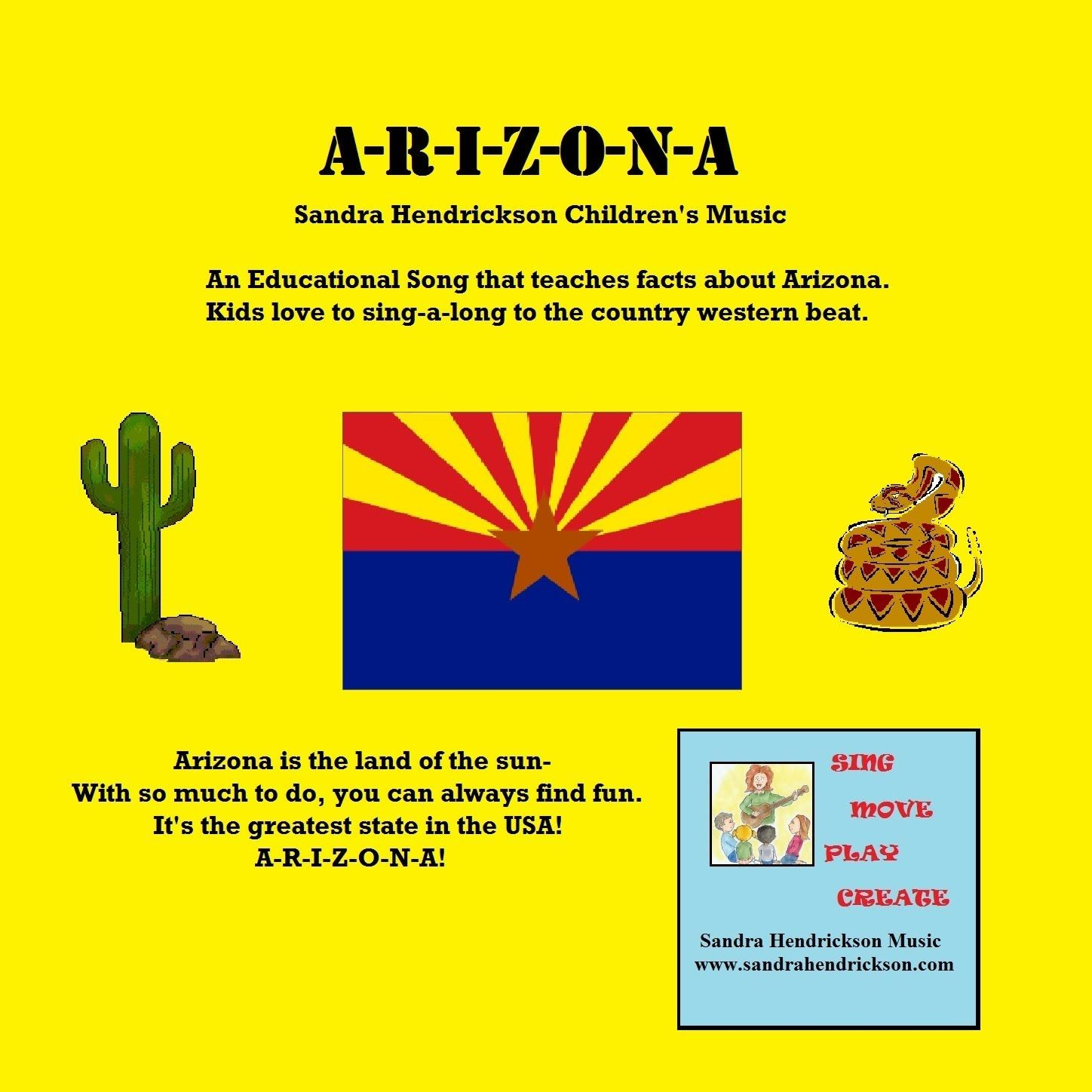 A R I Z O N A Educational Children S Song About Arizona State Facts S
