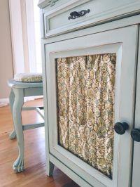 Chicken wire cabinet door with fabric  | Pinteres