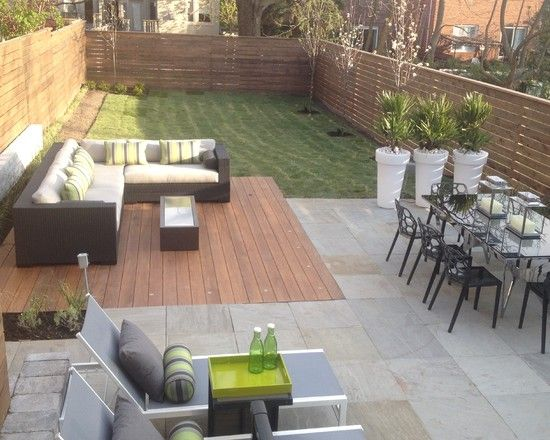 Mix Materials? Ideas For Patio Row House Design Pictures
