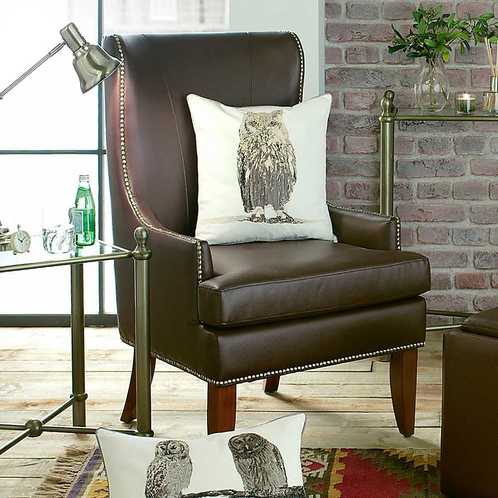 tall living room chairs picture back home belfry brown faux leather high chair