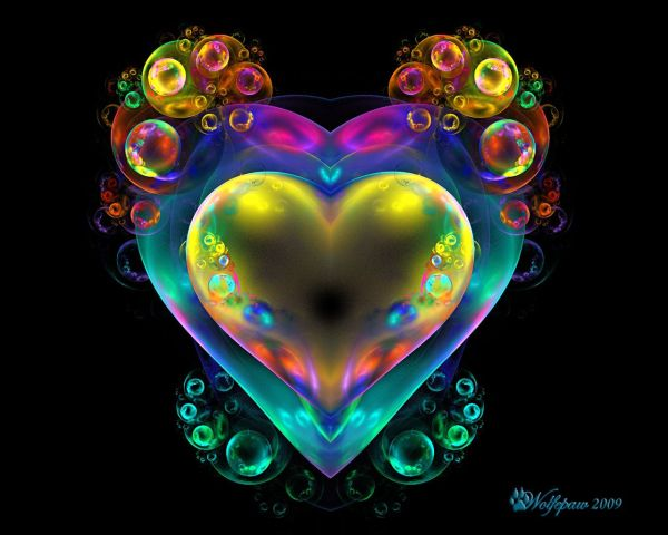 Heart Artwork Bubbles Over Wolfepaw Digital