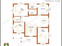 ARCHITECTURE KERALA: THREE BEDROOMS IN 1200 SQUARE FEET ...