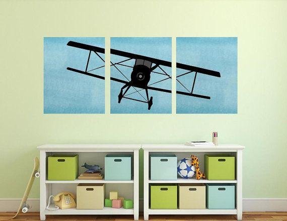 Airplane wall art plane nursery decor planes aviator room also rh pinterest