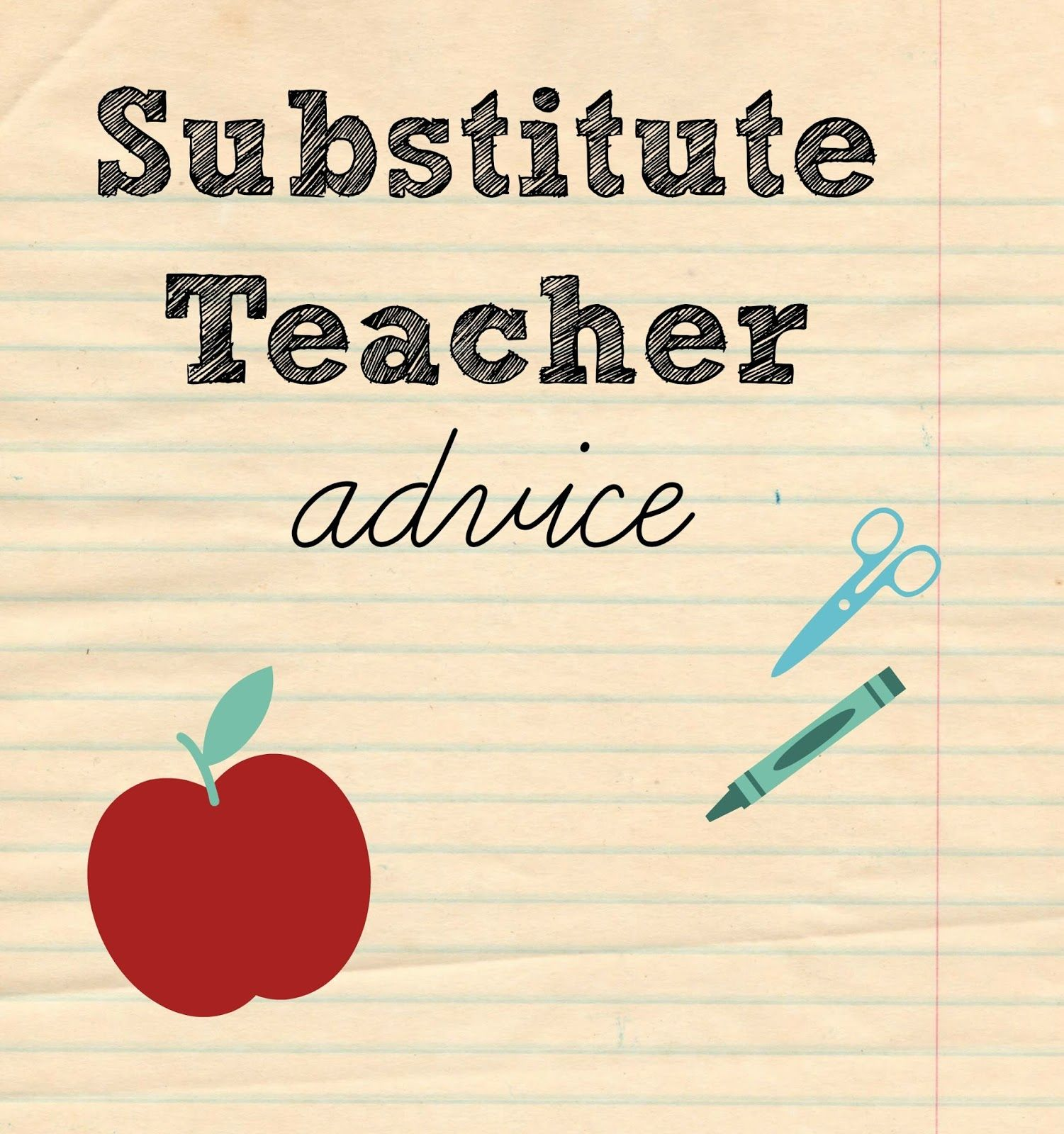 Substitute Teacher Advice Love All Of It So Helpful