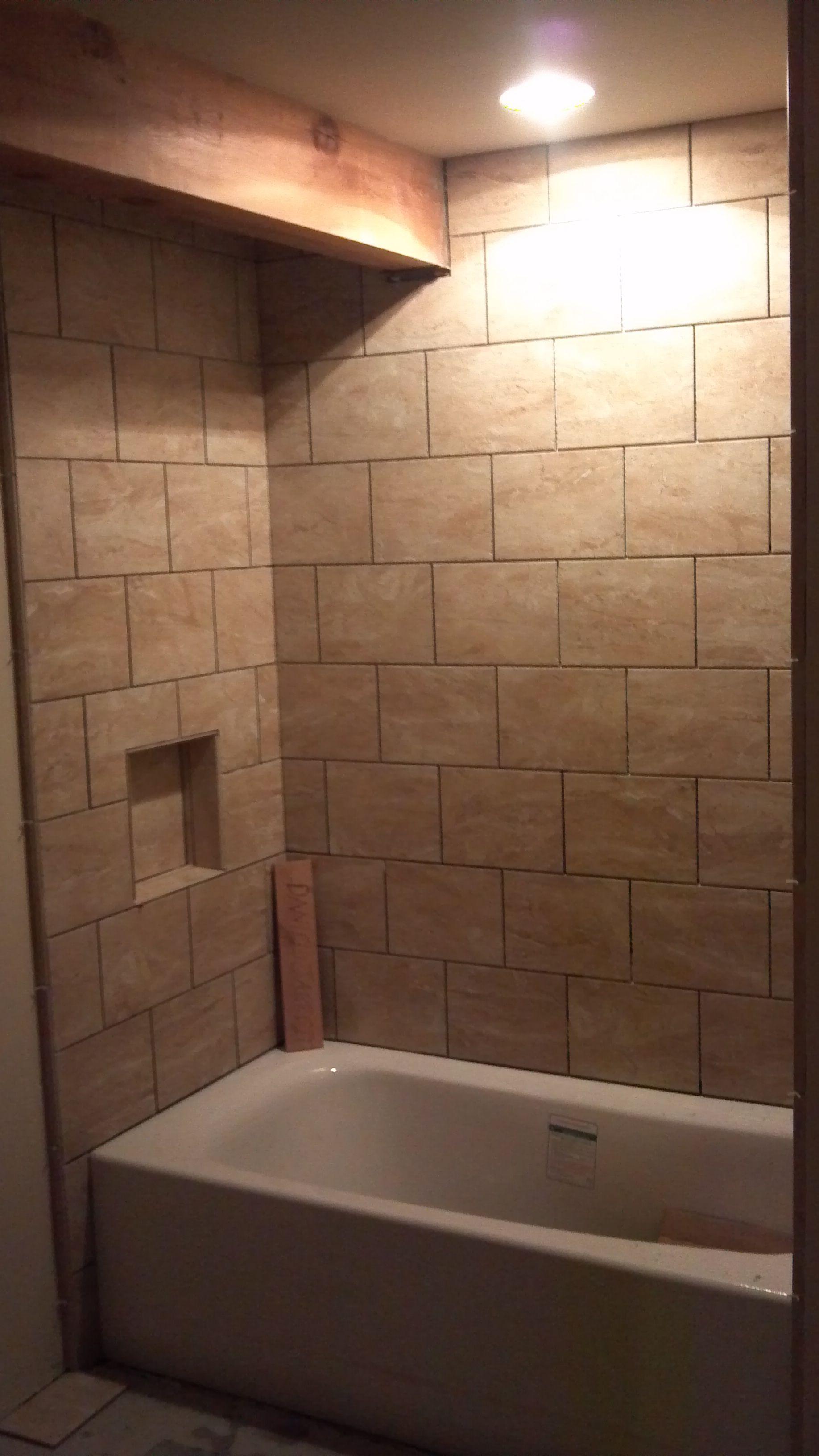 Ceramic tile tubsurround  Bathroom tubs  fixtures  Pinterest  Tile tub surround Tub