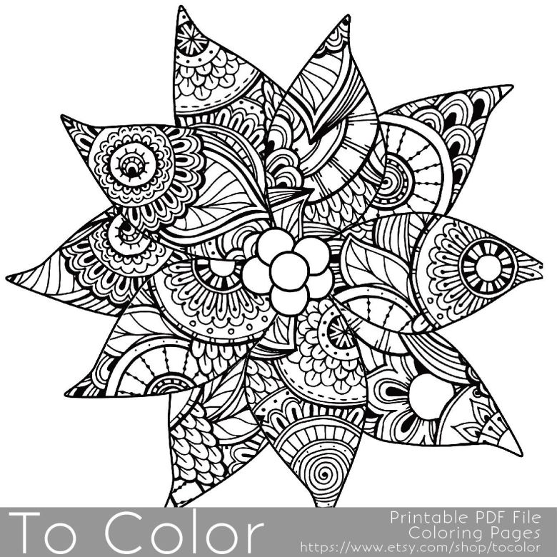 christmas coloring page for adults - poinsettia coloring page