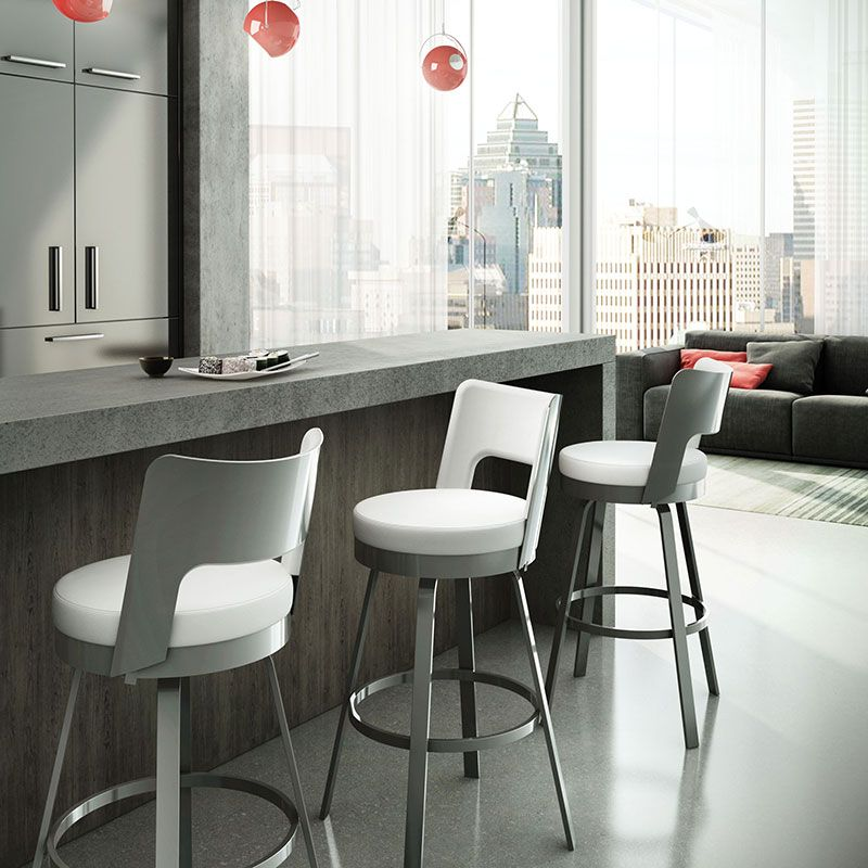 upholstered kitchen counter stools cabinet makers the benson bar stool features a rounded back with ...