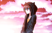 anime girl with brown hair
