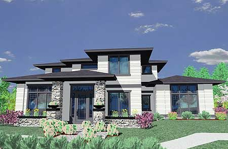 Plan 85014MS Prairie Style House Plan Style Window And House