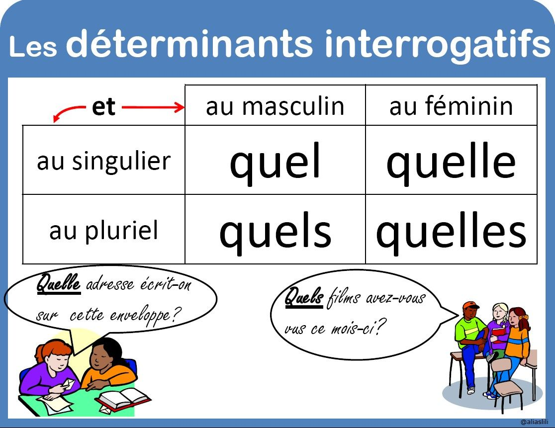 Determinants Interrogatifs Education