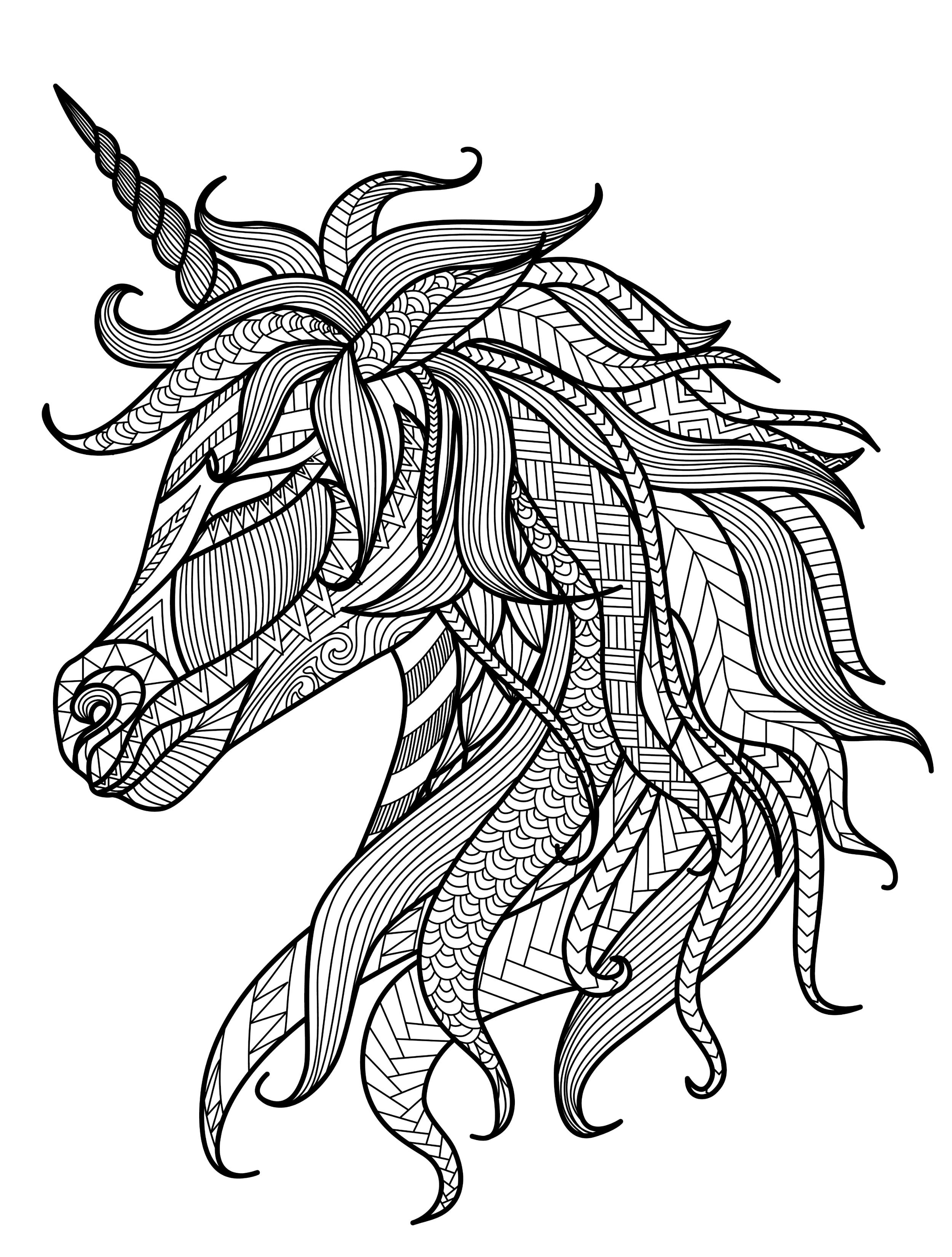 unicorns dragons christmas gorgeous free printable adult coloring pages