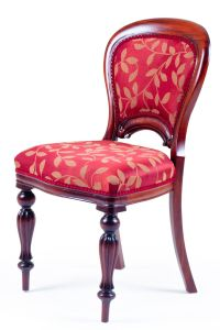 Victorian Upholstered back Dining Chair. A Victorian