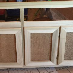 How To Make Kitchen Cabinet Doors Non Scratch Sinks Diy Door Used Burlap And Chicken Wire For A More