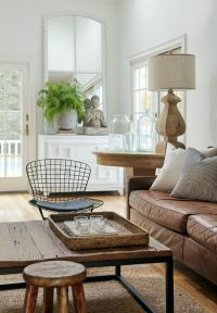 Living Room Inspiration: Tan Leather Sofa | Living Room ...