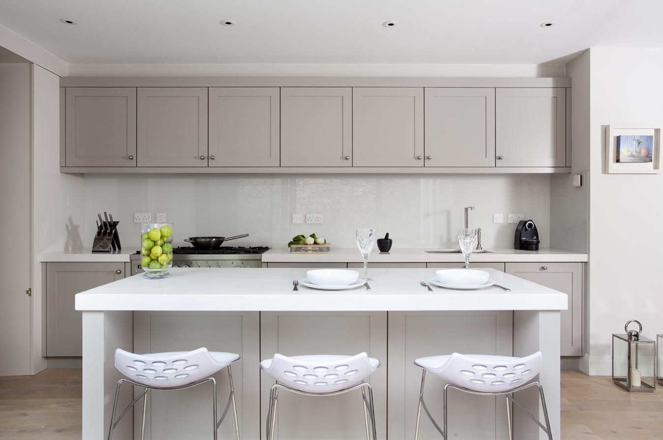 hickory shaker style kitchen cabinets fire extinguisher for french grey kitchens painted in