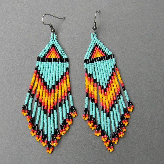 free native american beaded earrings patterns