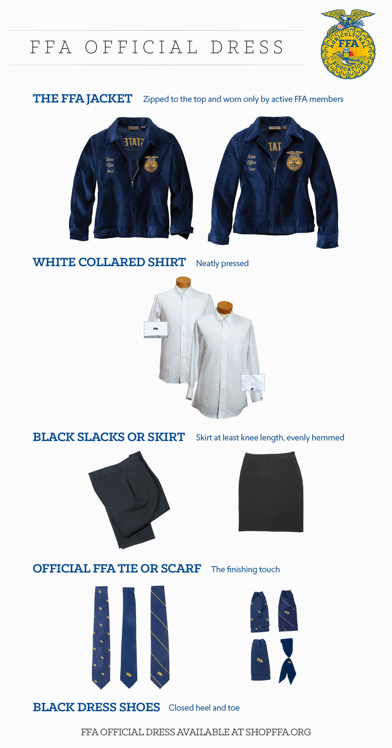 How To Wear Your Ffa Official Dress