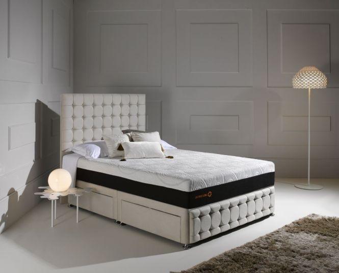 Dormeo Octaspring Venice Fabric Divan Bed With Hybrid Mattress