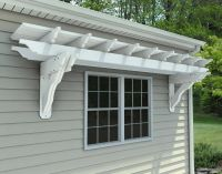eyebrow pergola kits wall mount