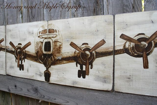 Knockoff pb airplane panels also crafts pinterest airplanes wall rh