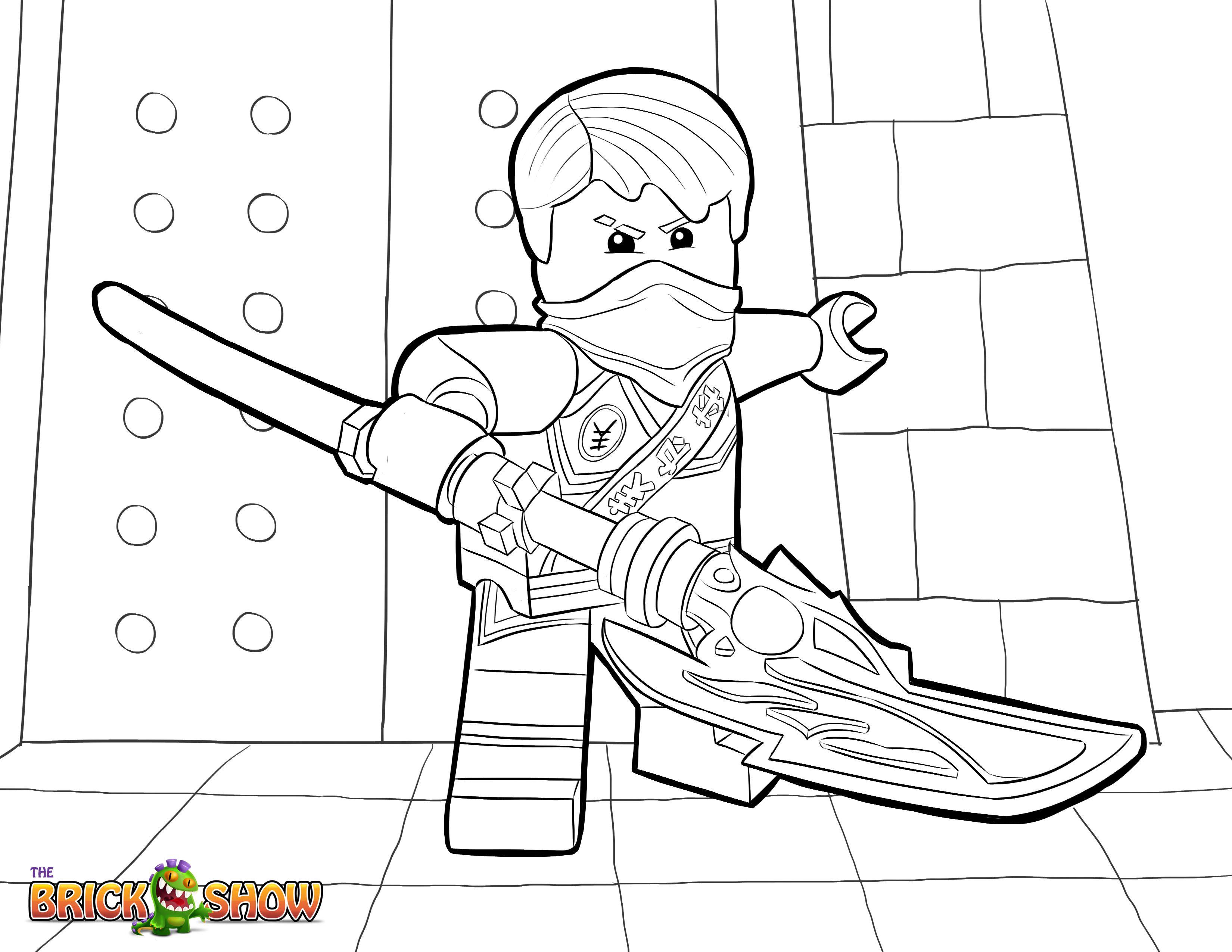 Lego Ninjago Coloring Page Lego Lego Ninjago Jay Tournament Of Elements Printable Color Sheet