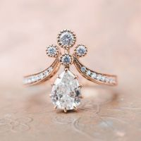 Vintage-Inspired Rose Gold Victorian Era Engagement Ring ...