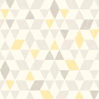Colours Triangles Soft Lemon Geometric Wallpaper | Lemon ...