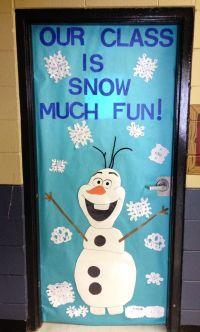 Olaf classroom door. Frozen themed door.   Bulletin boards ...
