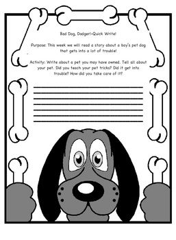 Second Grade Reading Street story Bad Dog, Dodger Quick