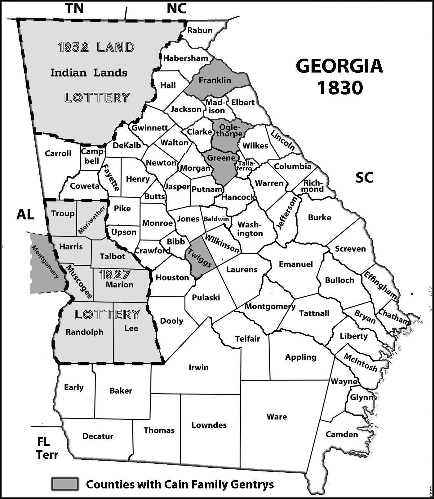 Usa Map Ga