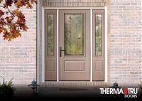 Therma-Tru Smooth-Star fiberglass door painted Pink Shadow ...