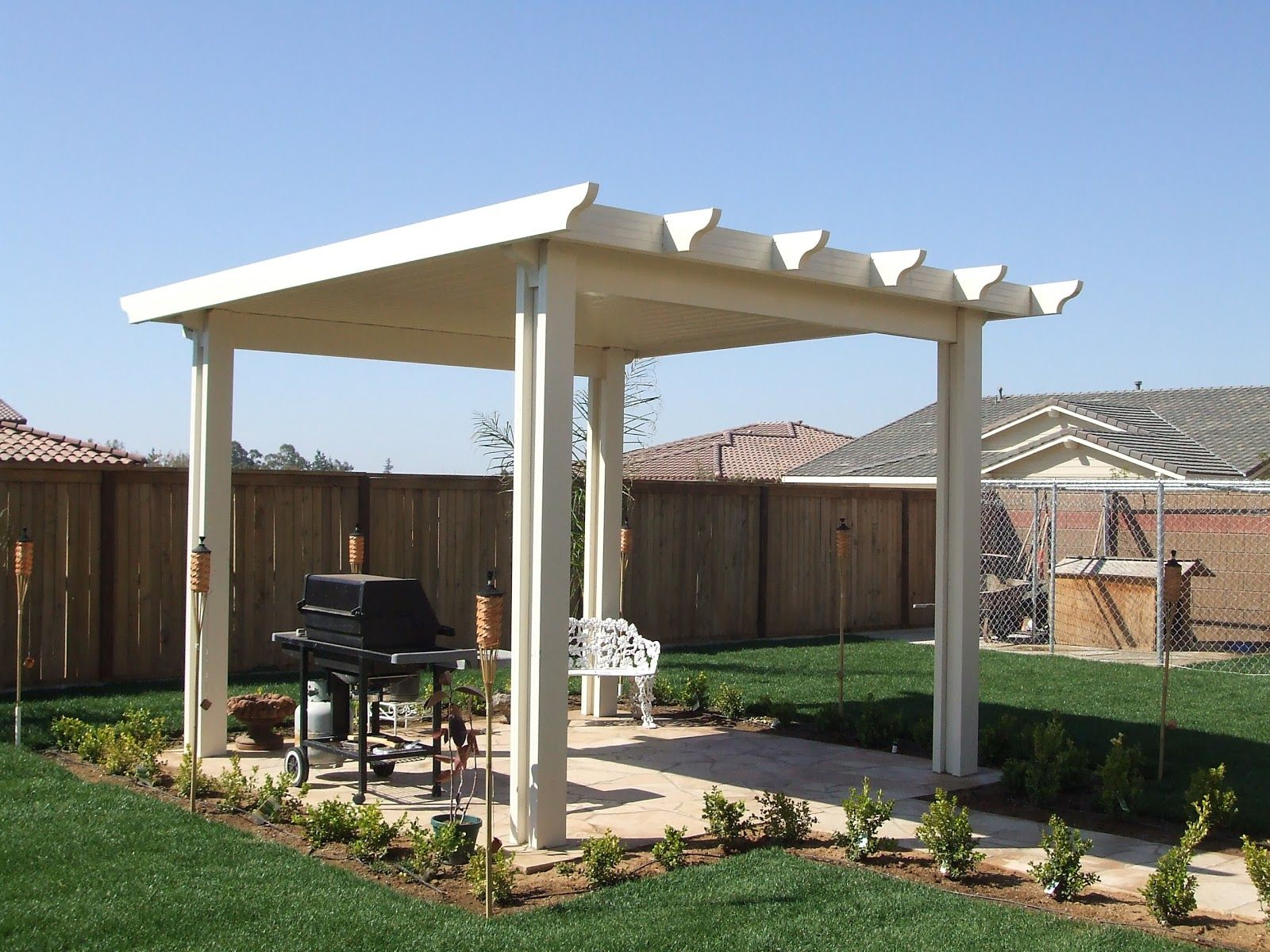 Patio coverings  free standing alumawood patio cover