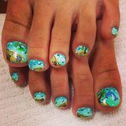 beach nails nail design
