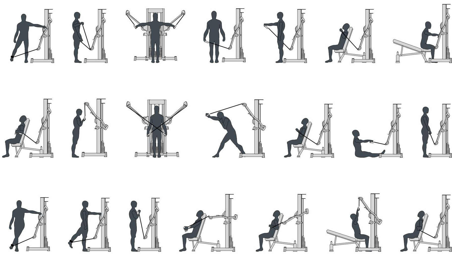 cable machine exercises workouts and pinterest