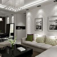30 White Brick Wall Living Rooms That Inspire Your Design ...