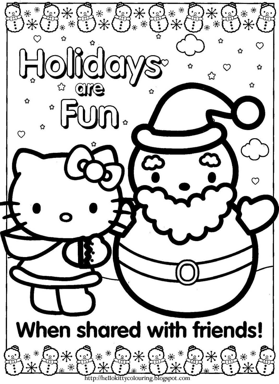 Hello Kitty Xmas Idear From Christina Juse This For A Card