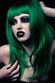 green hair . bailey