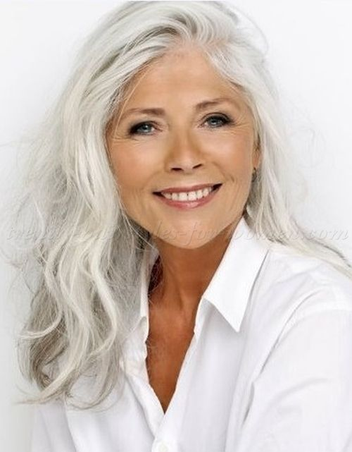 Long Grey Hairstyles Long Hairstyle For Grey Hair Hair